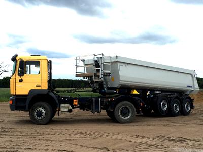 transport materiałó sypkich 25 ton żwir ziemia piasek Środa Wlkp