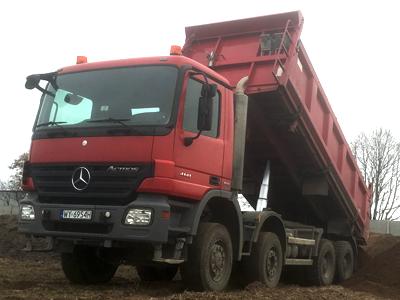 transport materiałów sypkich 16 ton Środa Wlkp żwir piasek ziemia