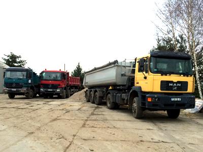 Transport materiałów sypkich transport ciężarowy Środa Wlkp.